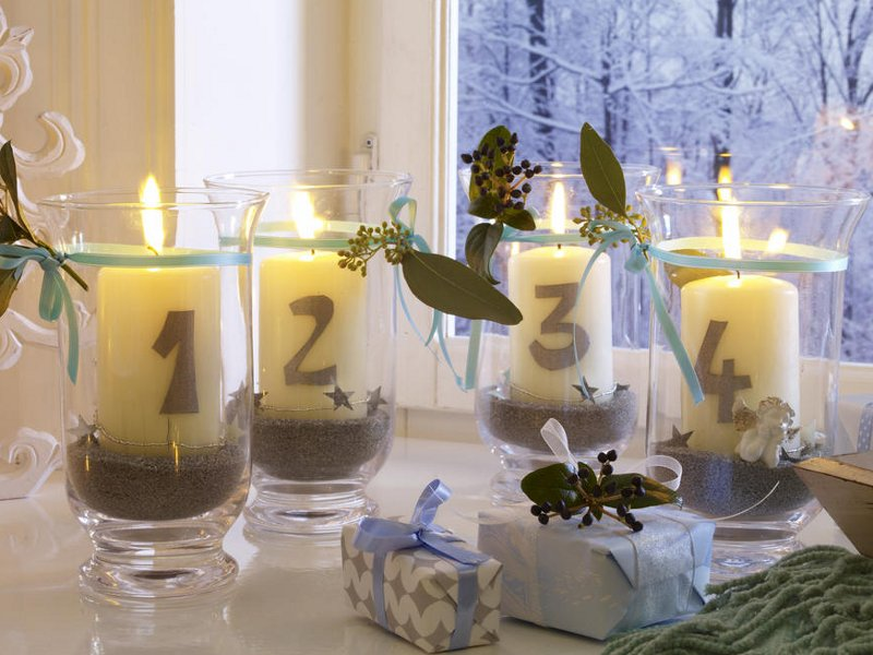 Свечи к новому году 2014