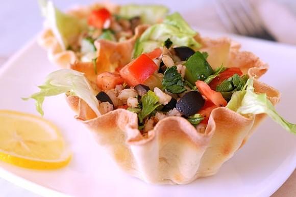 Рецепт салата для готовых тарталеток рецепты