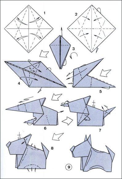 щенок оригами
