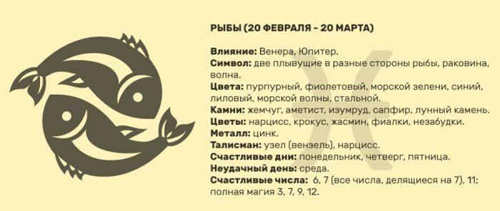 характеристика знака рыбы