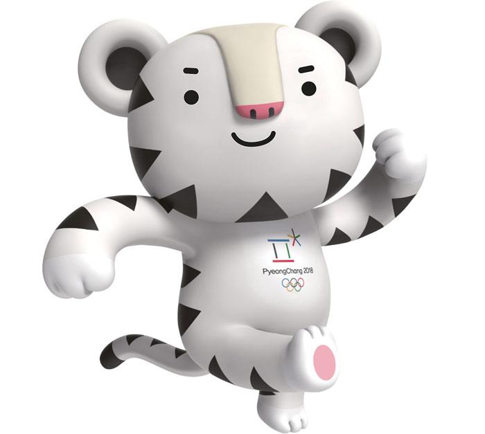 символ олимпиады 2018 белый тигр