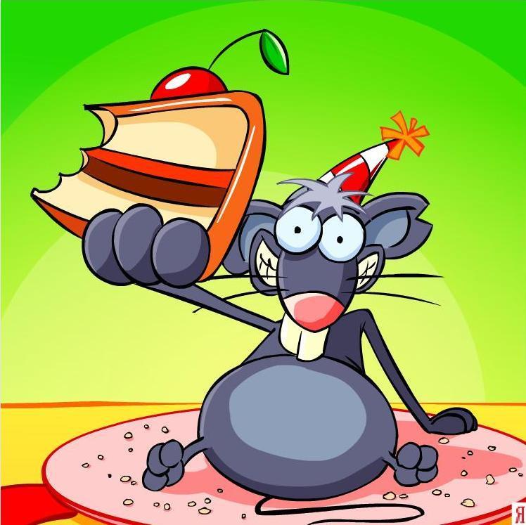 С днем рождения открытка с крысой, днем