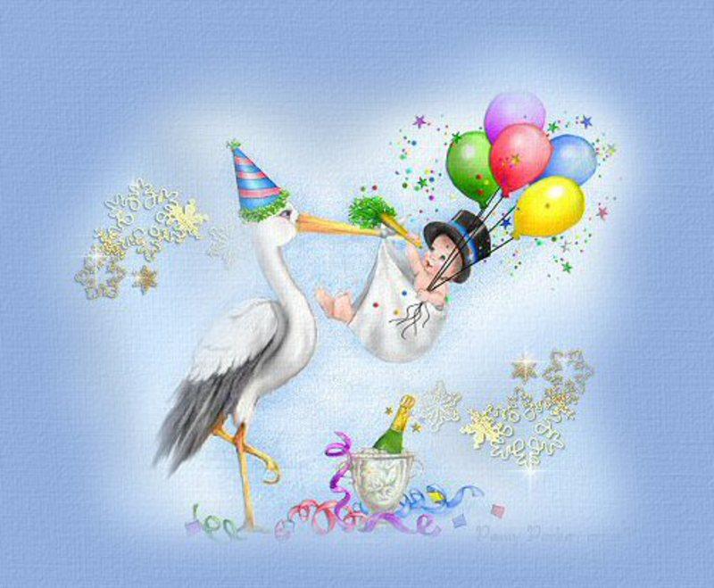 Фото открыток на день рождения малыша