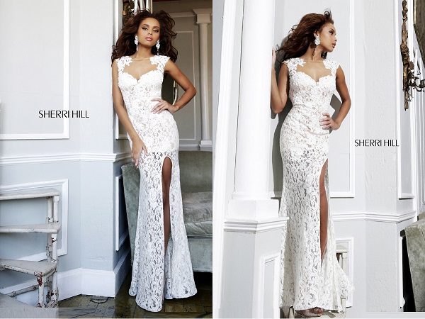 Платья вечерние белые красивые