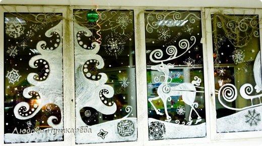 Рисунки для нового года на стекле
