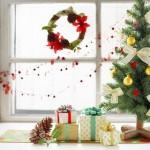 Украшение подоконника к Новому году