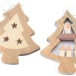 5 способов как украсить квартиру на новый год деревянными елочными игрушками в декоре