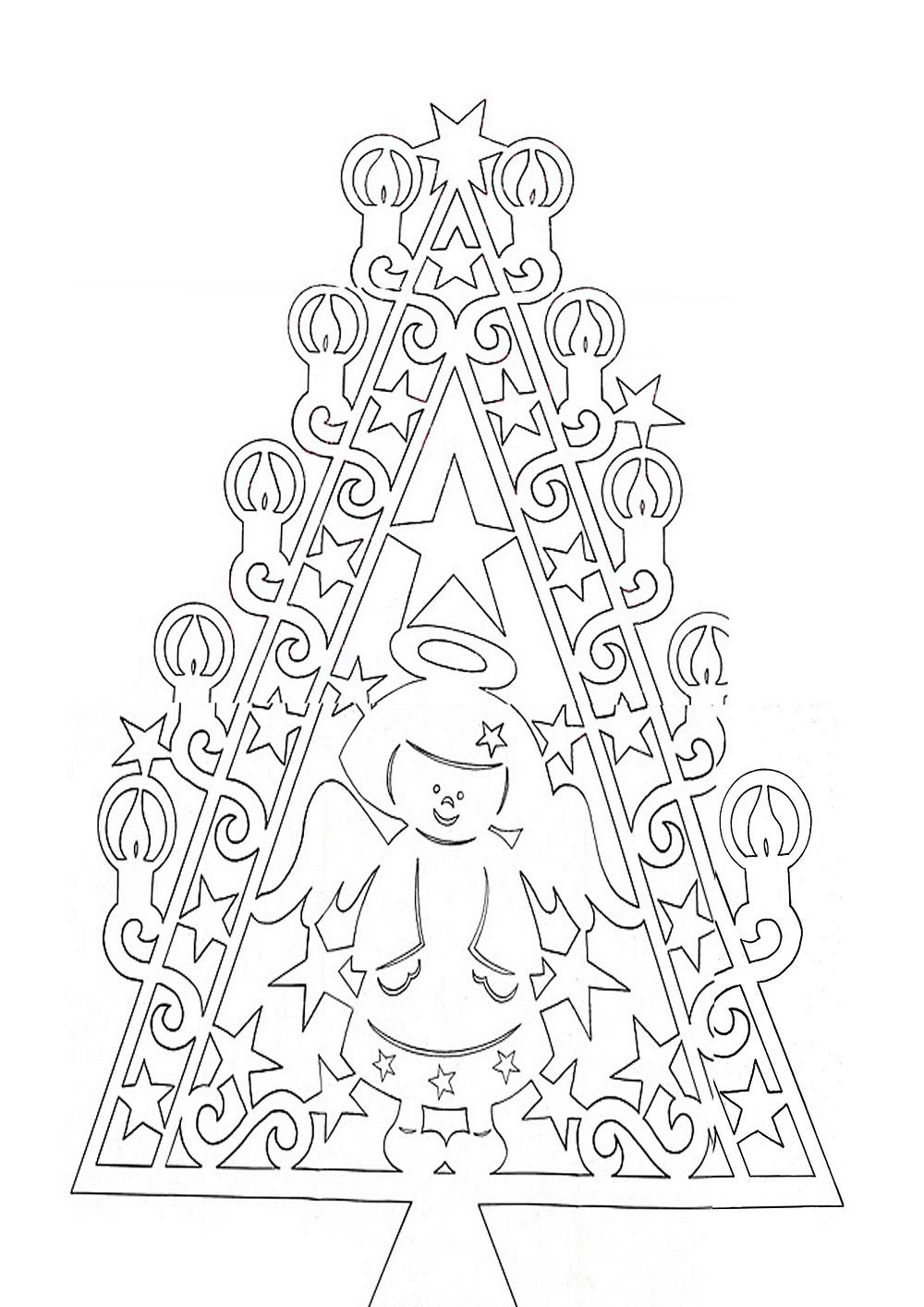 Схема киригами к новому году
