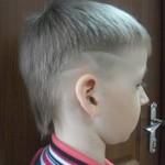 Детская стрижка «полубокс»