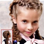 Детская стрижка пышная «французская» коса у ребенка