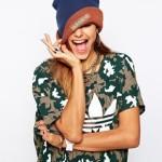 Шапка-бини с помпоном и логотипом Adidas Pom