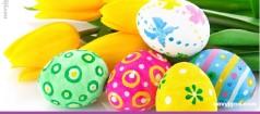 Тюльпаны и пасхальные яйця