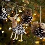 Игрушки из шишек на елку
