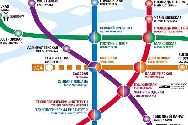 Часть метро Питера