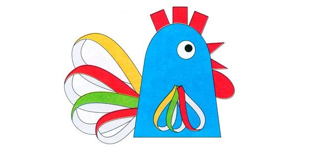 петух символ 2017 года своими руками из бумаги
