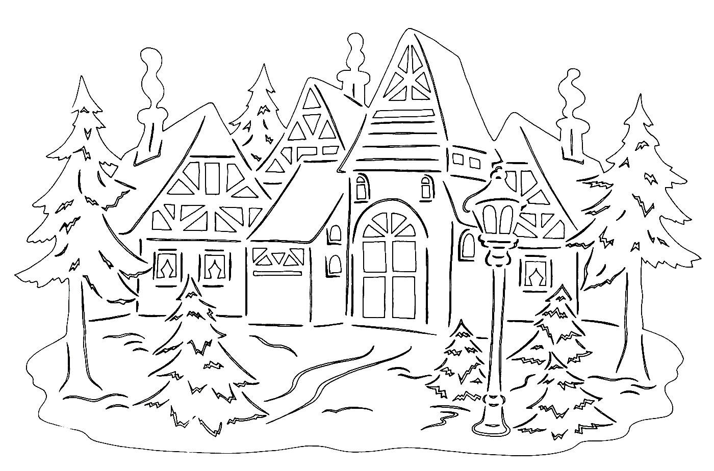 Новогодние украшения на окна своими руками шаблоны