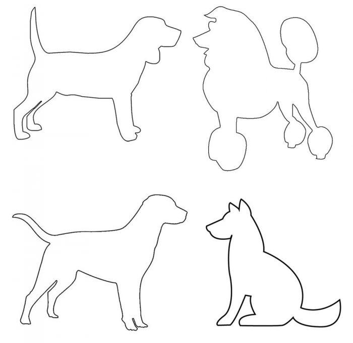 трафареты в форме собак