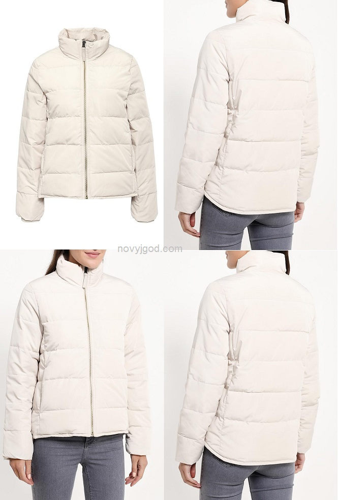 Стеганая куртка Gap выполнена из матового текстиля и утеплена синтетическим материалом PrimaLoft