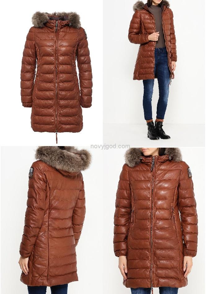 Утепленная куртка Parajumpers выполнена из натуральной кожи ягненка