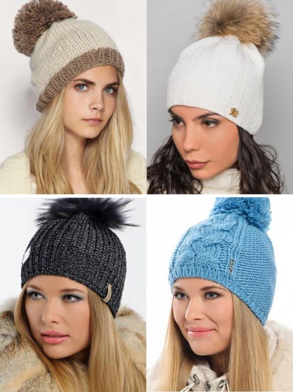 Модные женские зимние шапки 2017 фото