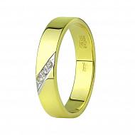 обручальное кольцо из желтого золота. Артикул Кл 0067-Ж