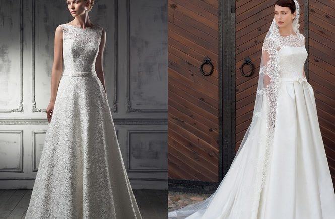 Оригинальные модели свадебных платьев для зимней свадьбы