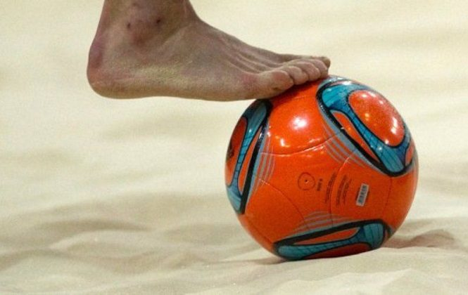 Волейбольный мяч для игры на пляже
