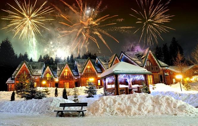 Безопасный новогодний фейерверк на загородной даче