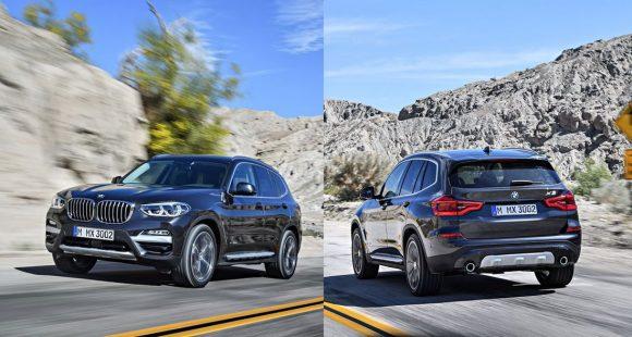 BMW X3 2017 спереди и сзади