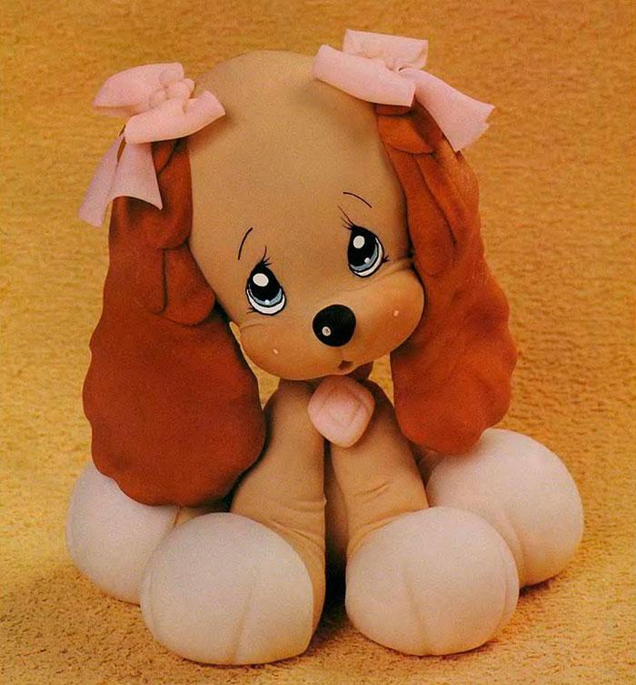 Год Собаки поделки �воими ��ками из б�маги �кани глин�