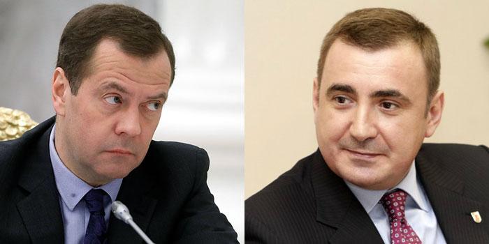 Дмитрий Медведев и Алексей Дюмин