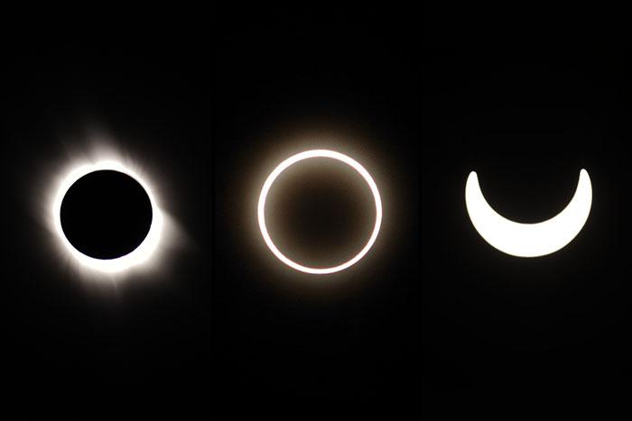 затмение солнца три типа