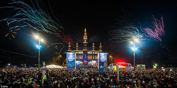 новогодняя ночь в Австрии