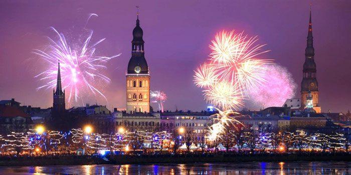 Новый год в Латвии