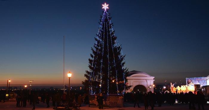 новогодняя елка в Омске