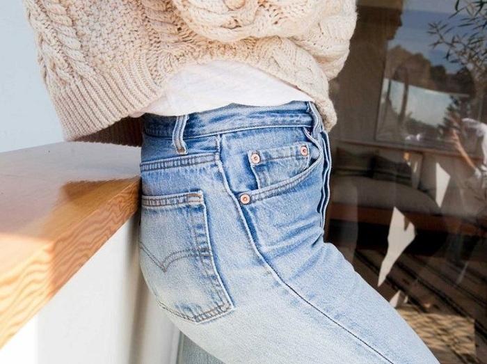Выбеленный джинс деним